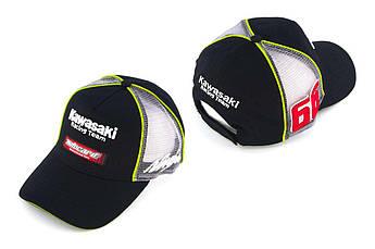 Бейсболка (Мото кепка) Кавасаки (KAWASAKI) (черно-серая, motocard)