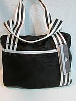 Сумка женская Adidas белые полоски код 565А