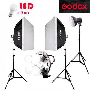 1,7kW Godox LED TL4K257  комплект постоянного светодиодного света студийного