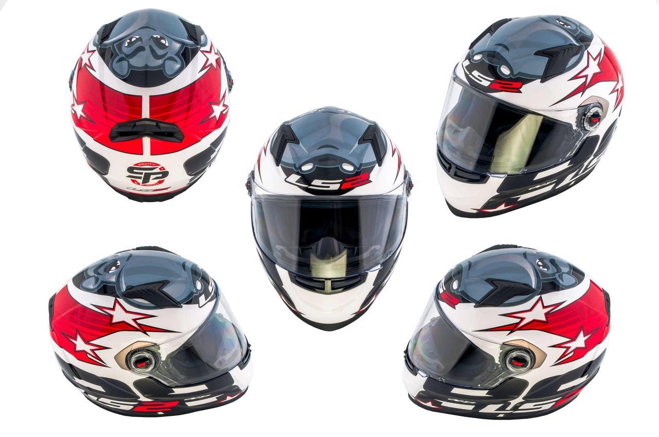 Мотошлем, Мотоциклетный шлем Интеграл (full-face) (mod:FF352) (Размер:XXL, черный, RANGER) LS-2