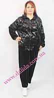 Велюровый спортивный костюм батал с кожаным принтом Aj-Sel, фото 1