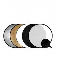110 cm Отражатель для фото 5 в 1 RD-024 gold-silver-black-white-translucent Visico