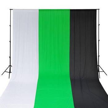 """КОМПЛЕКТ - 3 фото фона (черный, белый, хромакей) и держатель типа """"Ворота"""" GODOX 2433"""