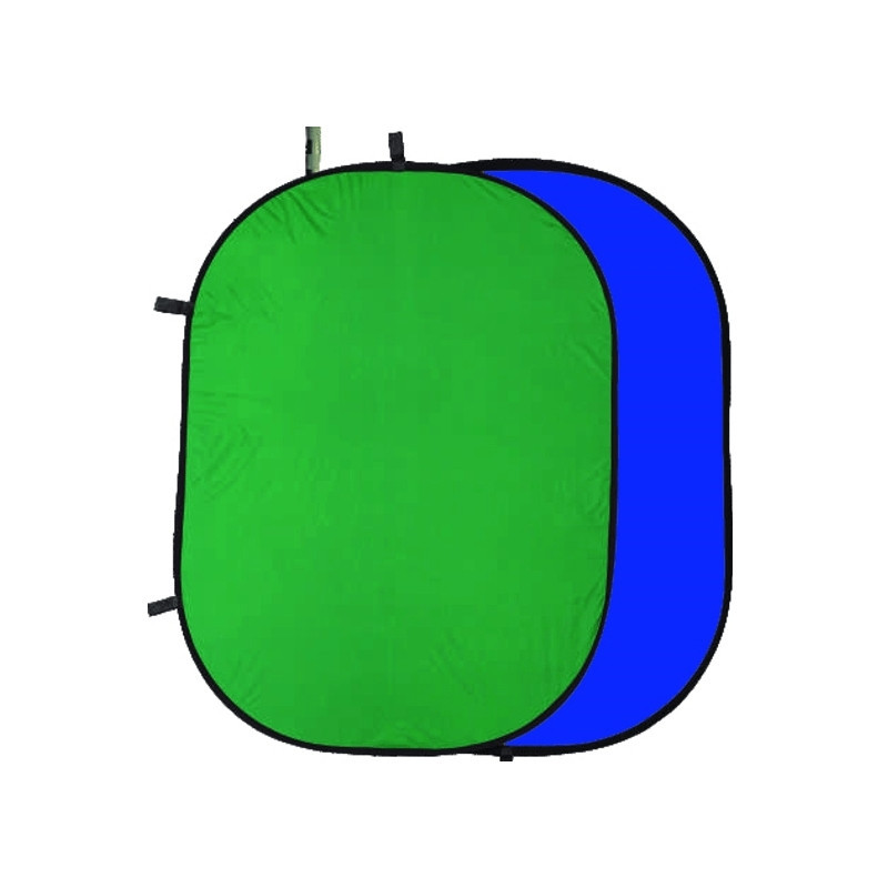 1.5*2м Фон хромакей  на пружине Menik Y-92 сине/зелёный YouTube Chromakey складной