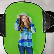 1.5*2м Фон хромакей  на пружине Menik Y-92 сине/зелёный YouTube Chromakey складной, фото 5