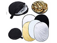 92х122см Отражатель для фото 5 в 1 RD-024 gold-silver-black-white-translucent Visico, фото 3
