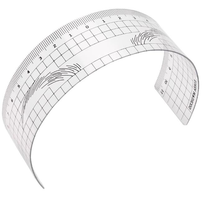 Разметочная многоразовая линейка для дизайна эскиза бровей MEDICOS