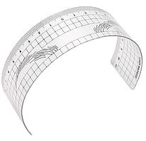 Розмічальна багаторазова лінійка для дизайну ескізу брів MEDICOS