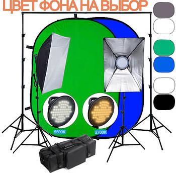 90/900Вт Комплект постоянного света LED BiColor PLA1520 kit для выездной фото - видео съемки