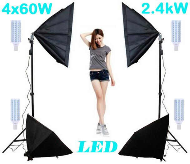 .2,4kW Комплект LED Godox 4SB-57 постоянного света, 4*60W
