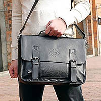 Мужская кожаная сумка-портфель. Модель с5, фото 1