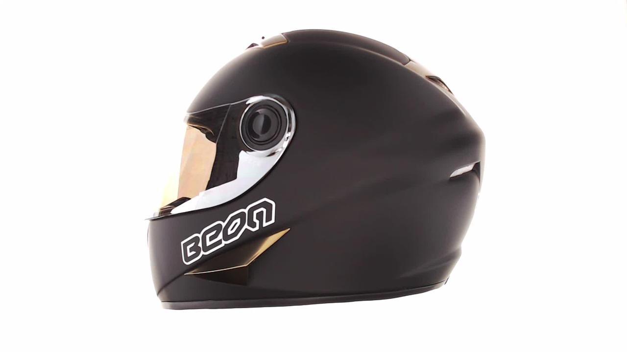 Мотошлем, Мотоциклетный шлем Интеграл (full-face) (mod:B-500) (Размер:XL, черно-коричневый) BEON