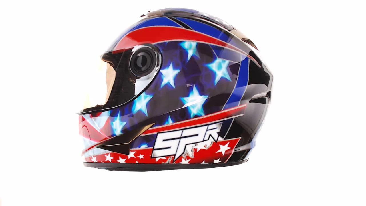 Мотошлем, Мотоциклетный шлем Интеграл (full-face) (mod:B-500) (Размер:L, черно-красно-синий) BEON