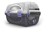 Переноска для домашних животных собак Rhino GeorPlast серый черный фиолетовый