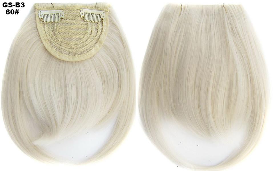 Накладная челка на клипсах из искусственных волос GS-B3 60#