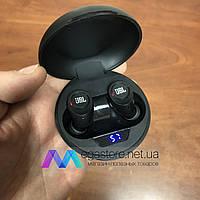 Беспроводные bluetooth наушники гарнитура JBL MG-TWS10 by harman с кейсом для зарядки жбл спортивные черные