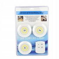 Светильники светодиодные Light Technology Limited - 3 шт. + пульт ДУ