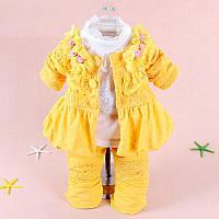 Костюмчик желтый для девочки, фото 1