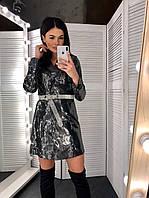 Сукня піджак з паєтки з довгим рукавом 60mpl741