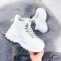 Ботинки женские белые эко кожа белая подошва12\9221, фото 2