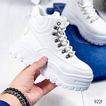 Ботинки женские белые эко кожа белая подошва12\9221, фото 3