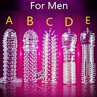 Насадка на член, презерватив, многоразовый презерватив