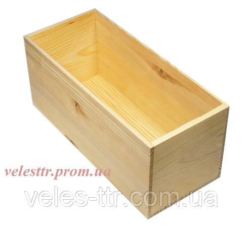 Ящик цілісний 35х14,5х15,5 см дерево заготівля для декору №20