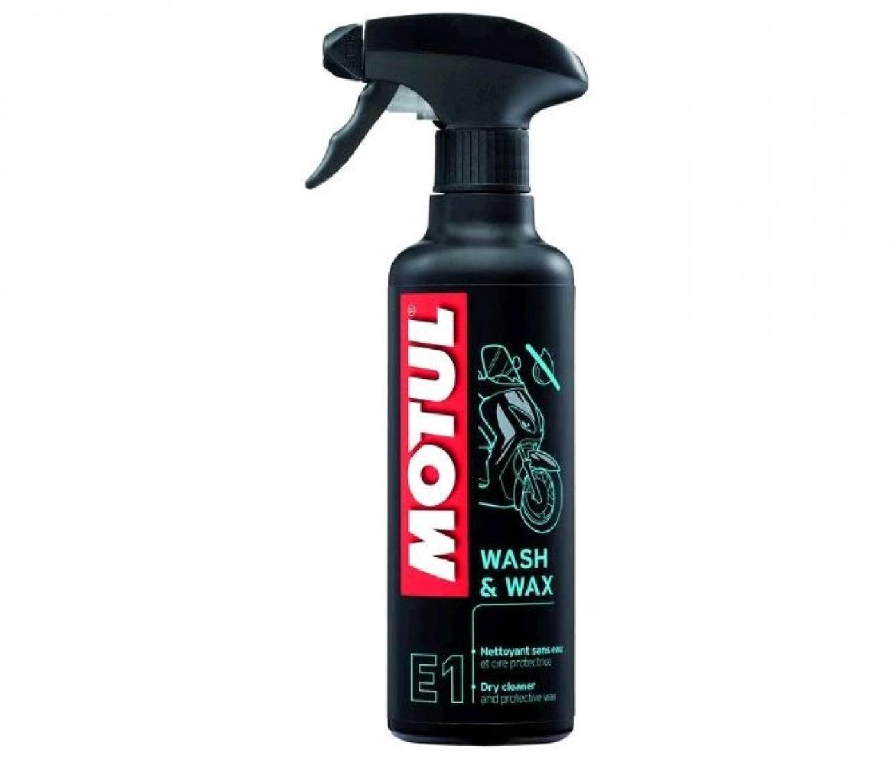 Средство для мытья и полировки мотоцикла 400мл (E1 Wash Wax) MOTUL (#102996)