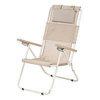 Кресло-шезлонг Ясень текстилен золотистый