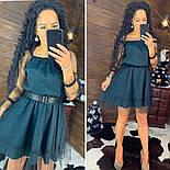 Женское красивое платье с сеткой (в расцветках), фото 5