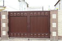 Автоматические распашные ворота 3000 на 2000 ТМ Хардвик (дизайн ЛЮКС)
