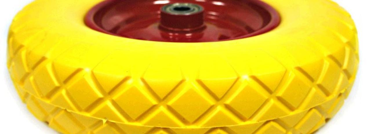 Колесо для тачки садовой 5,00 -6 TL (бескамерное, под ось d-20мм ) (желтое) MRHD