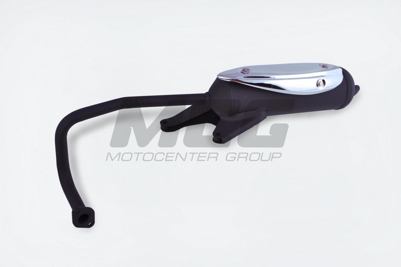Глушитель (Выхлопная труба) на Китайский Скутер 4Т 4-х тактный (Gy6) 50  Навигатор (NAVIGATOR) (в сборе) ST