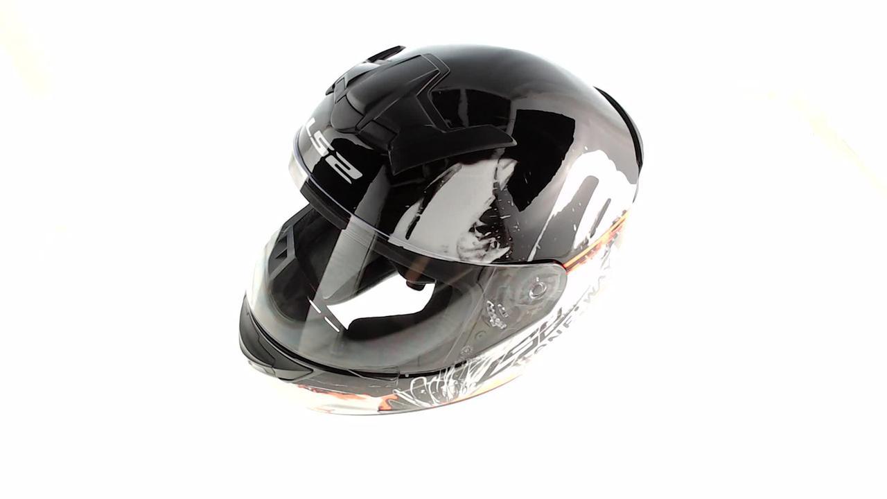Мотошлем, Мотоциклетный шлем Интеграл (full-face) (mod:FF352) (Размер:XXL, бело-черный, ROOKIE ONE) LS-2
