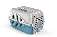 Переноска для домашних животных собак Panzer кремово голубой