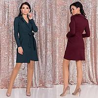 Ассиметричное платье на запах /разные цвета, S, M, L, MO-44577/