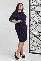 Жіноче батальне плаття з поясом та  паєтками ,3 кольори .Розміри  52-58, фото 1
