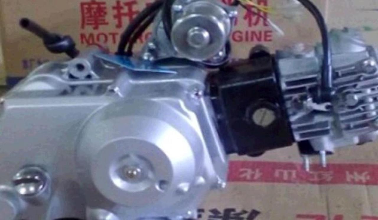Двигатель (В сборе)  на Мопед Дельта (Deltа), на Мопед Альфа (Alphа) 100 см³ (Автоматическая коробка передач