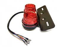 Стоп-сигнал диодный с поворотами (в сборе) универсальный (12 LED) с креплением DVK