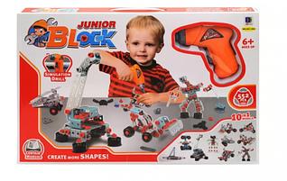 Конструктор для малышей с шуруповертом 10 в 1 на 552 детали, 661-302