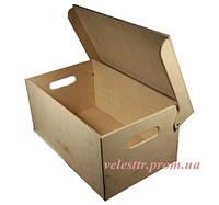 Ящик цельный с крышкой и ручками