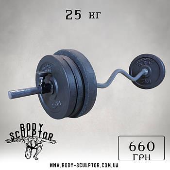 Штанга W-подібним грифом   25 кг