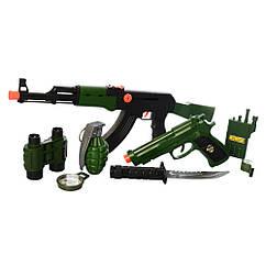 Набор военного M016B автомат, пистолет ,рация, граната, компас