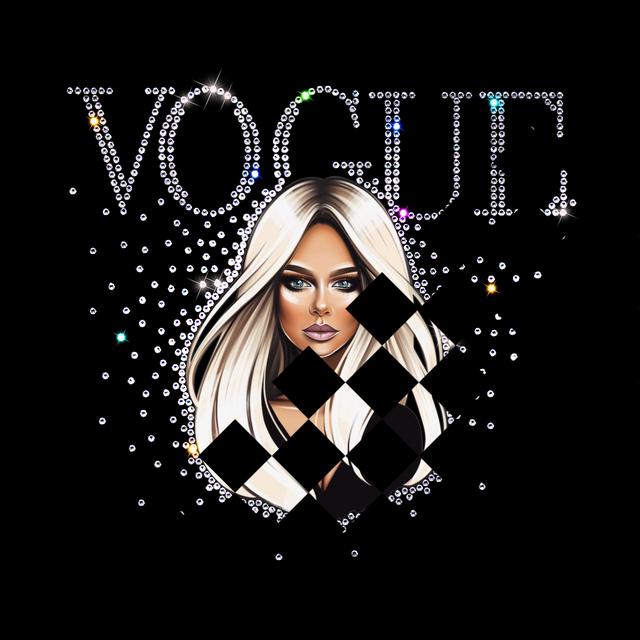 Наклейки на фатин Vogue girl (ss6 кристалл)