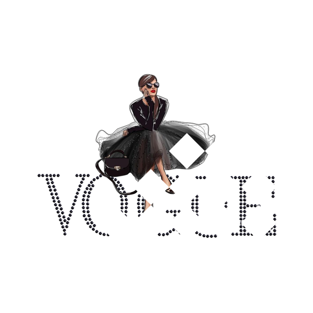 Термопереводки, латки на сумки Vogue (ss10 черн)