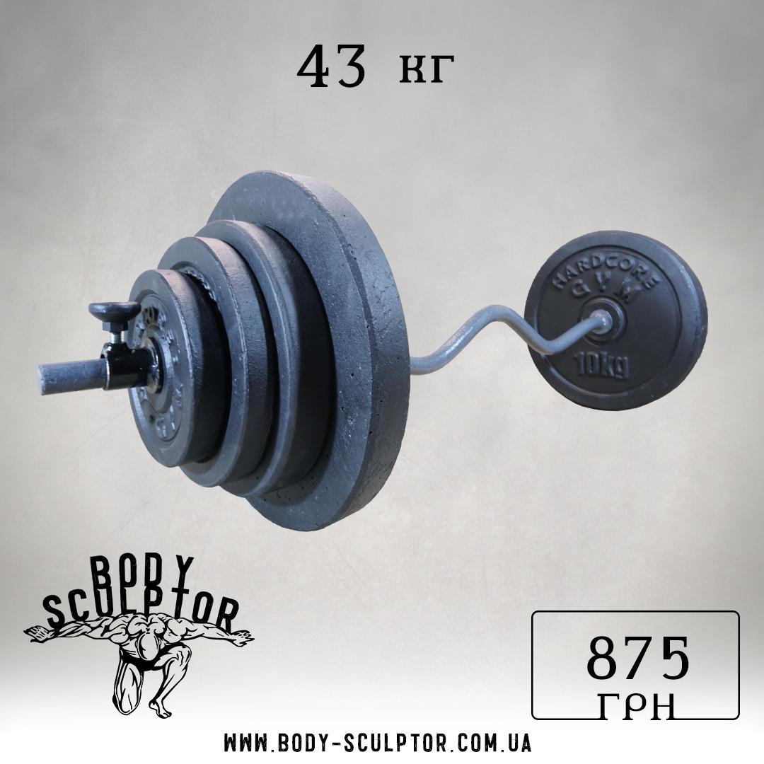 Штанга W-подібним грифом | 43 кг