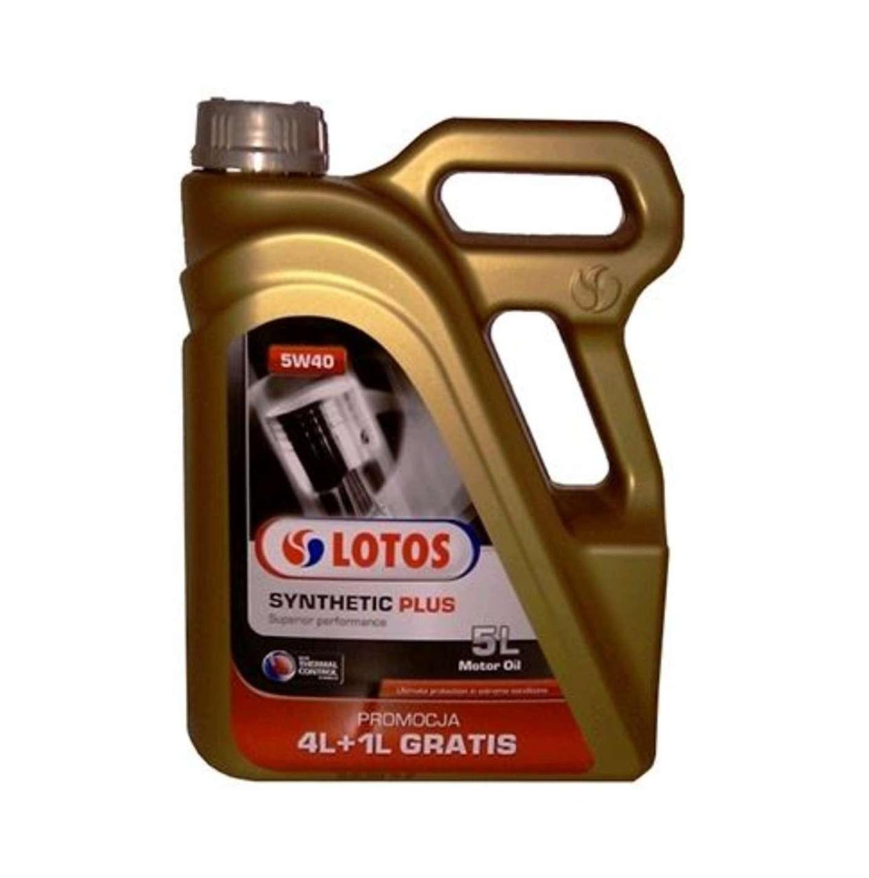 Масло автомобильное, 5л (SAE 5W-40, синтетика) (Synthetic Plus) LOTOS (#GPL)