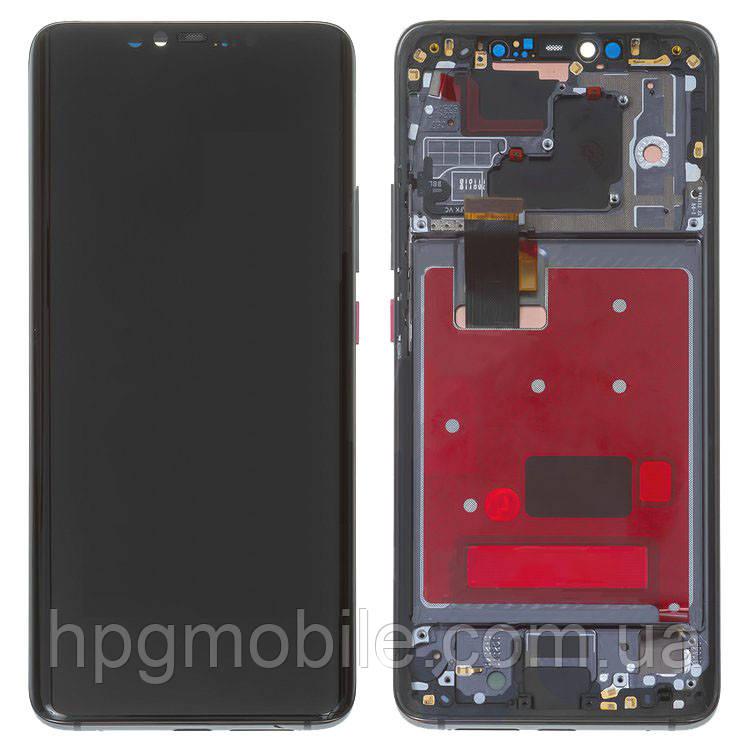 """Дисплей для Huawei Mate 20 Pro 6.39"""" (LYA-L29), модуль (экран и сенсор), с рамкой, черный, оригинал"""