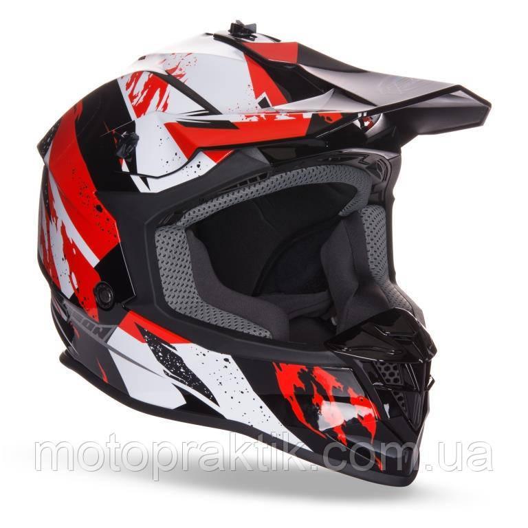 Мотошолом Крос GEON 633 MX Fox Red/Black, XS (53-54)