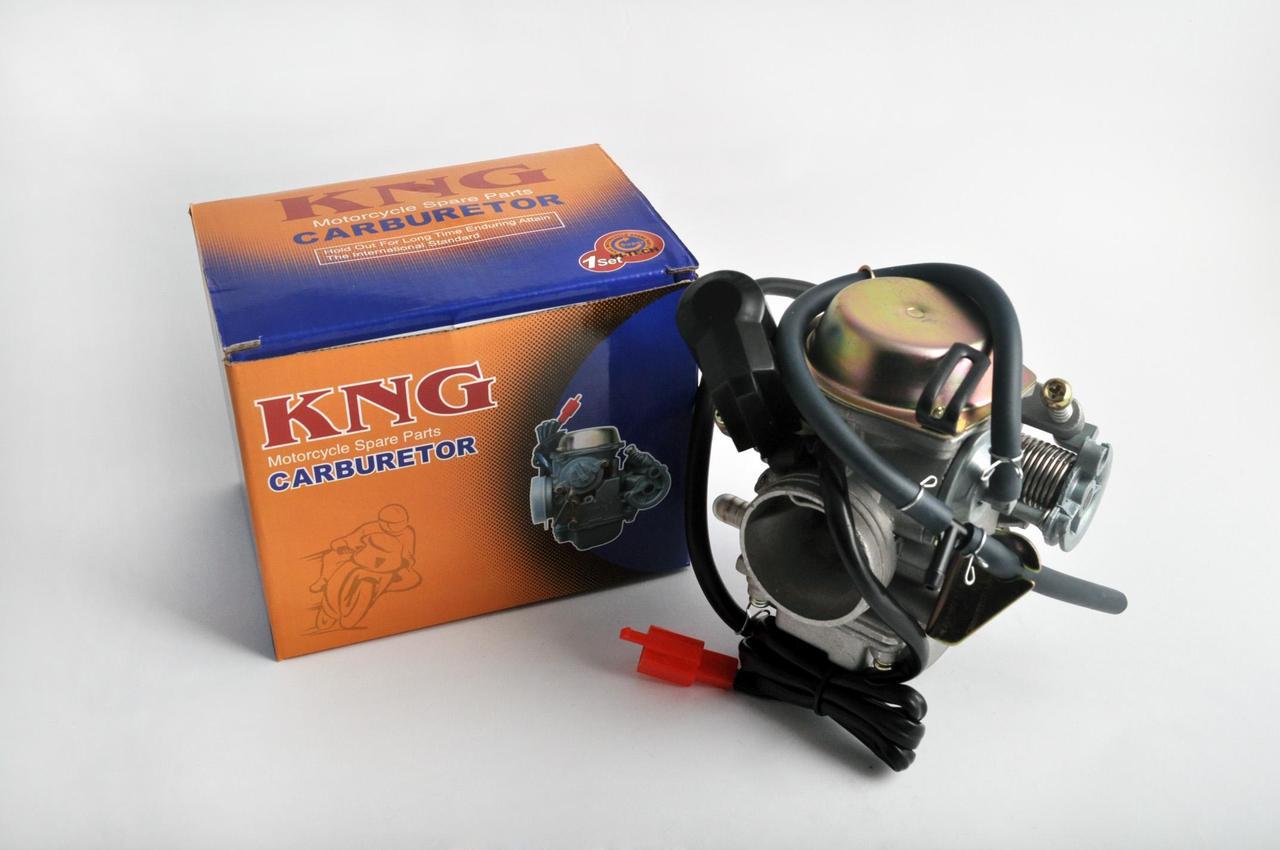 Карбюратор на Китайский Скутер 4Т 4-х тактный (Gy6) 150 (orange box) KNG